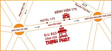 Bản đồ Sâm yến Thịnh Phát