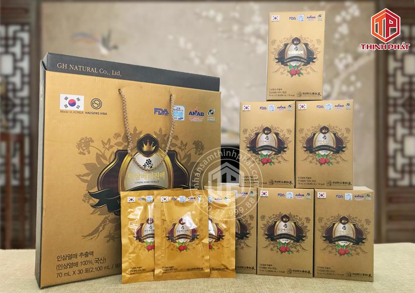 Nước tinh chất quả sâm Hàn Quốc 30 gói x 70ml