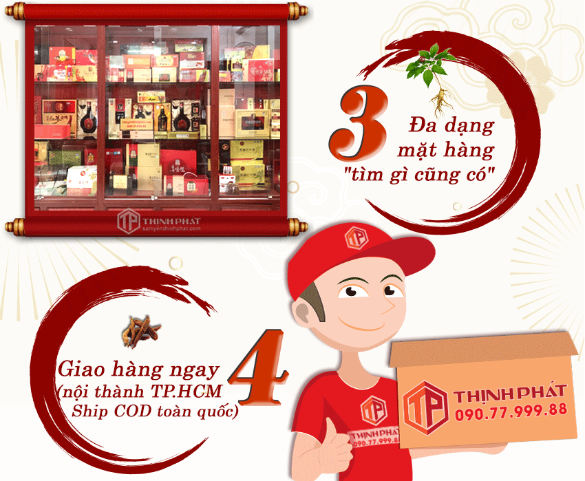 4 lý do chọn mua sản phẩm tại Nhân Sâm Thịnh Phát