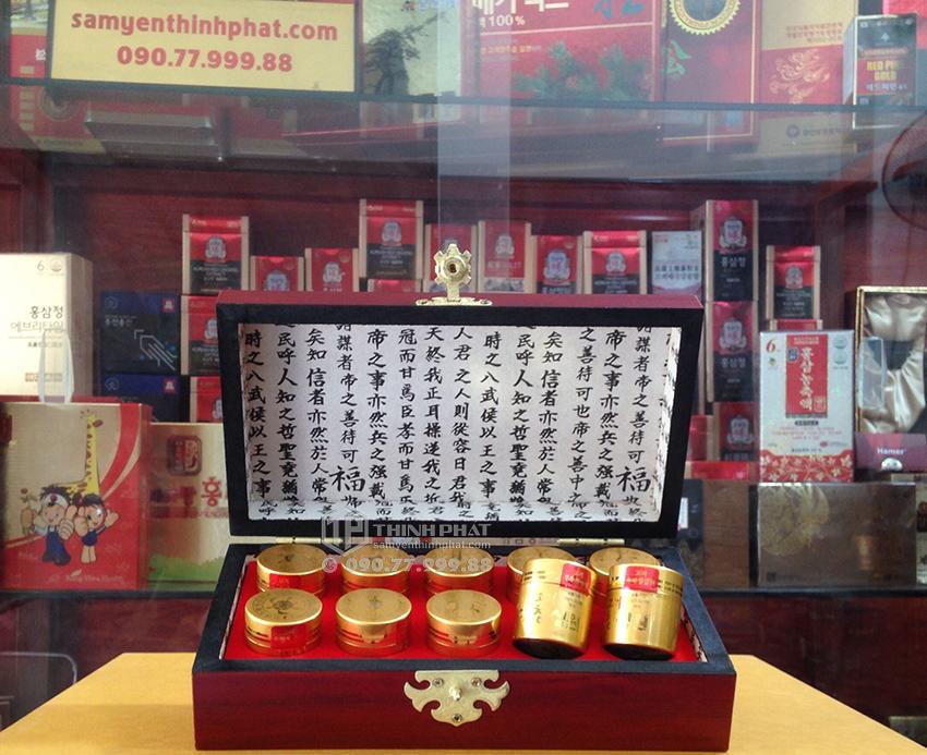 An cung ngưu Cheong Sim Won hộp gỗ 10 viên