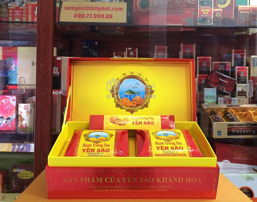 Bánh trung thu Yến Sào thập cẩm hộp 2 bánh x 200gr