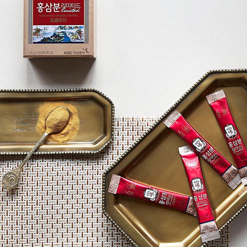 Bột hồng sâm Chính phủ Hàn Quốc KGC Cheong Kwan Jang hộp 60 gói