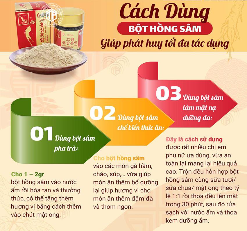 Cách sử dụng bột hồng sâm giúp phát huy tối đa tác dụng