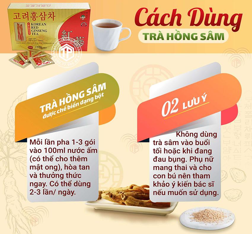 Cách dùng trà hồng sâm