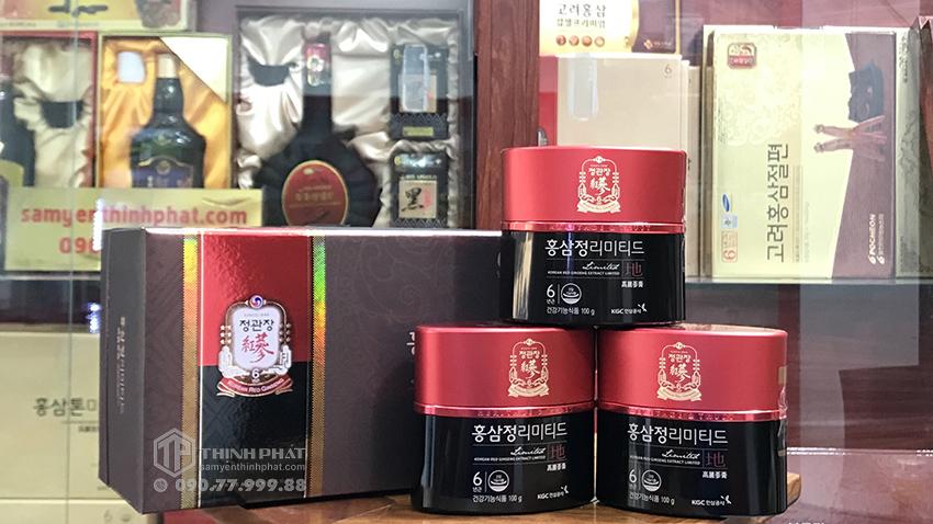 Cao địa sâm Hàn Quốc tinh chất cao hồng sâm Cheong Kwan Jang KGC thượng hạng hộp quà tặng 3 lọ x 100g
