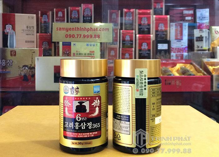 Cao hồng sâm Hàn Quốc hãng 365 1 lọ 240g