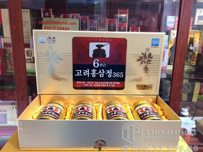 Cao hồng sâm Hàn Quốc 6 năm tuổi 365 - 240g hộp 4 lọ