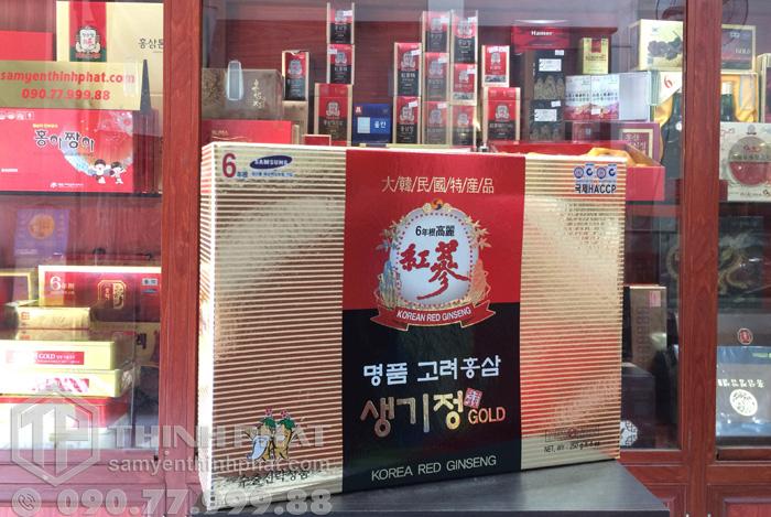Cao hồng sâm Hàn Quốc 6 năm tuổi cô đặc hộp 4 lọ x 250g GOLD
