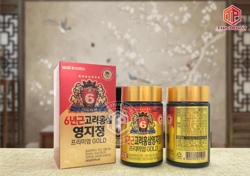 Cao hồng sâm linh chi Hàn Quốc Teawoong hộp 2 lọ x 240g