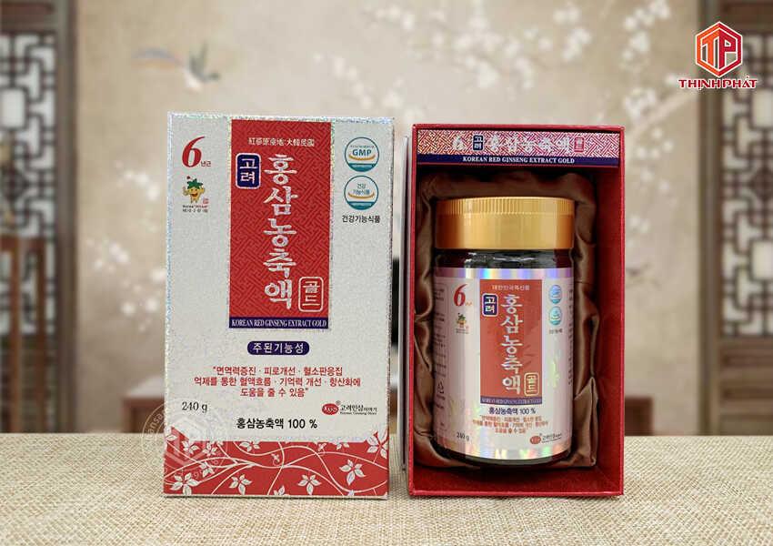 Cao hồng sâm Hàn Quốc ánh bạc hãng KGS 240g Hỗ trợ bệnh nhân ung thư phục hồi sức khỏe