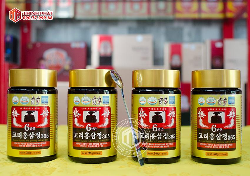 Cao hồng sâm chính hãng 365 sâm Hàn Quốc 6 năm tuổi hộp 4 lọ 240g