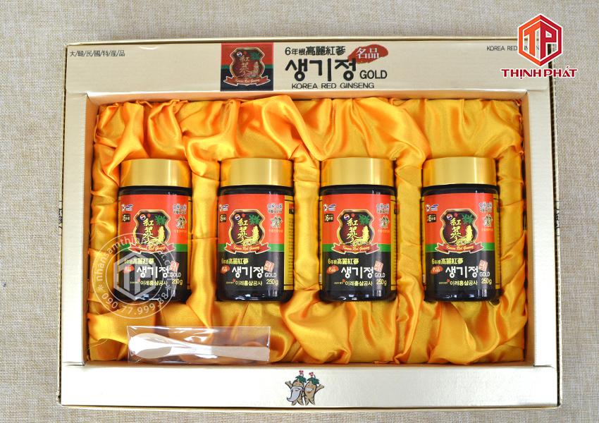 Cao hồng sâm Hàn Quốc GOLD 6 năm tuổi cô đặc hộp 4 lọ x 250g