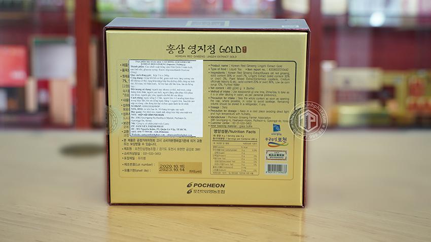 Cao hồng sâm linh chi Pocheon chính hãng Hàn Quốc