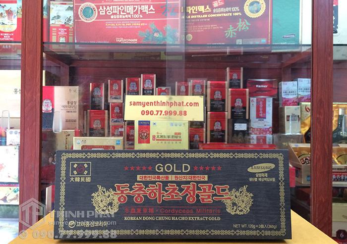 Cao Đông Trùng Hạ Thảo Hàn Quốc Gold hộp gỗ 3 lọ x 120g
