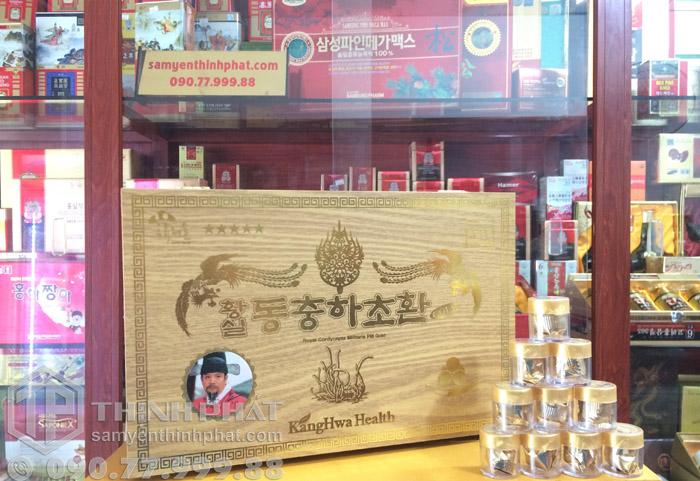 Viên đông trùng hạ thảo Hàn Quốc hộp gỗ vàng 30 viên