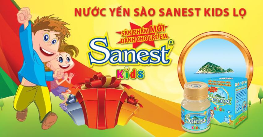 Hủ yến sào Khánh Hòa Sanest kids dành cho trẻ em