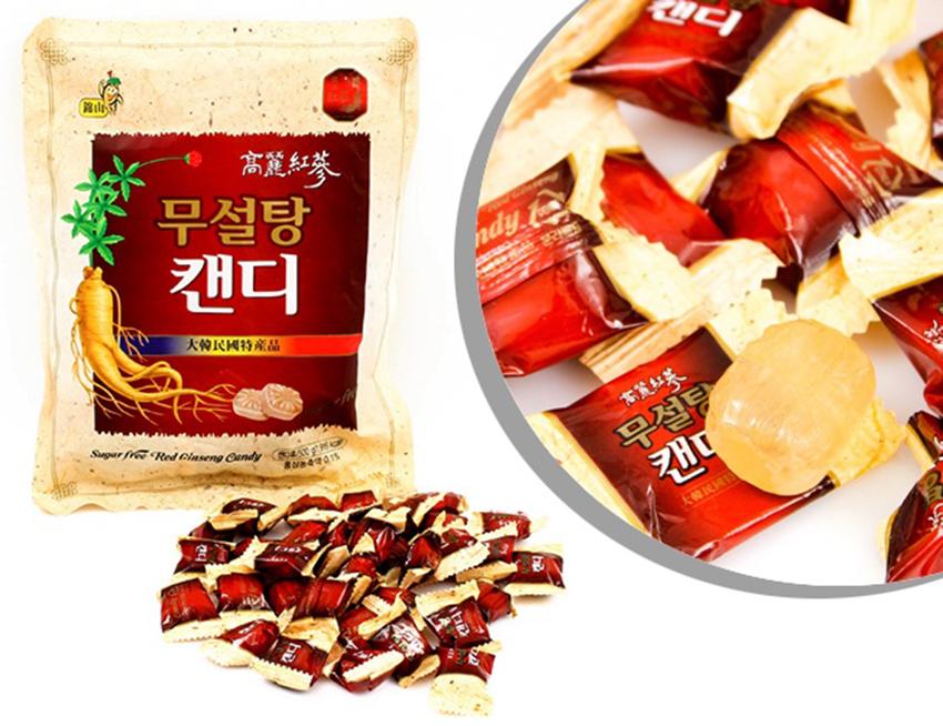 Kẹo hồng sâm Hàn Quốc không đường 500g