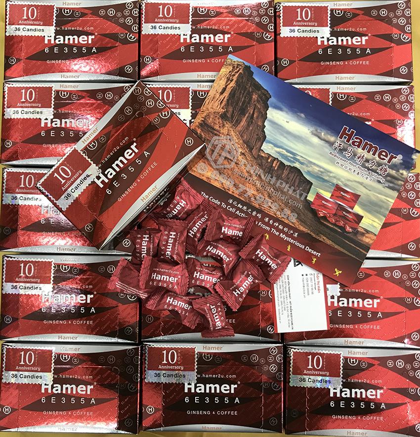 Kẹo sâm Hamer của Malaysia hộp 36 viên