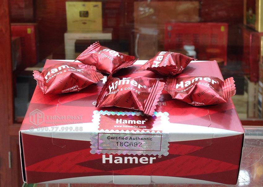 Kẹo sâm Hamer của Mỹ tăng cường sinh lực cho nam giới 5 viên bán lẻ