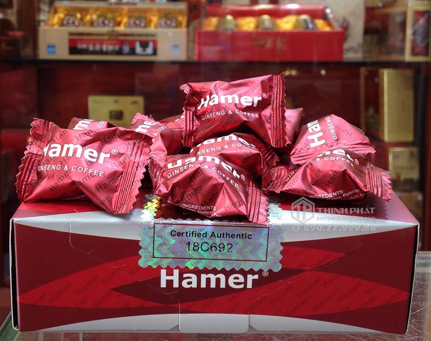 Kẹo sâm Hamer của Mỹ tăng cường sinh lực cho nam giới 10 viên bán lẻ