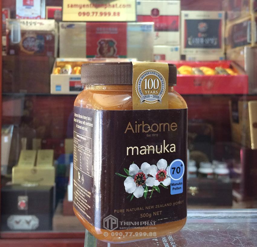 Mật ong Manuka New Zealand 70+ lọ 500g Airborne