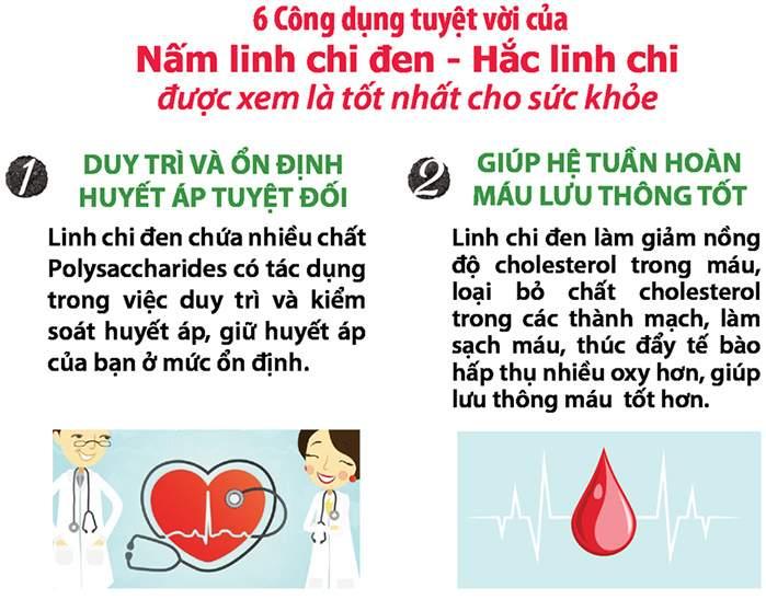 Công dụng Nấm hắc linh chi Hàn Quốc 1kg