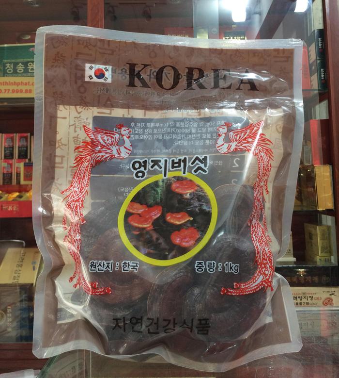 Nấm linh chi đỏ núi đá Hàn Quốc 0,5 kg