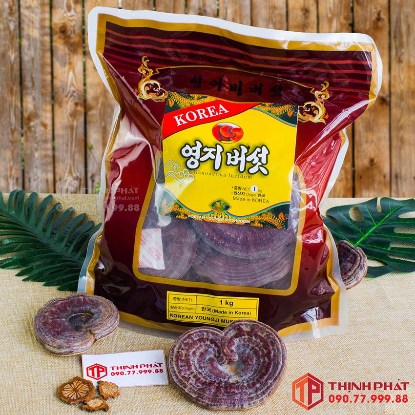 Nấm linh chi đỏ thiên nhiên Hàn Quốc