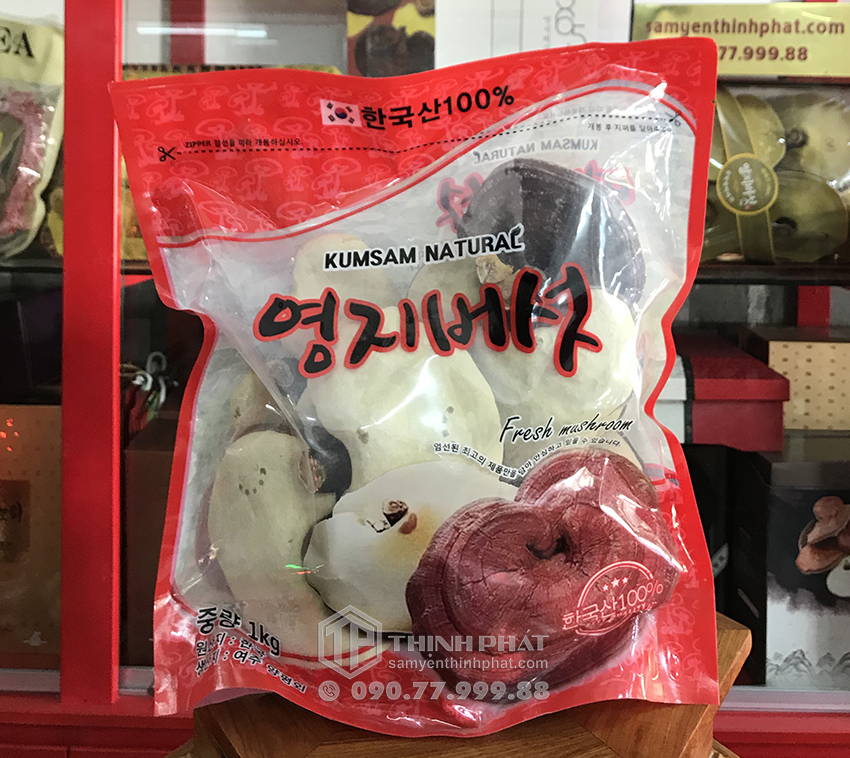 Nấm linh chi Hàn Quốc loại 1 - 1kg