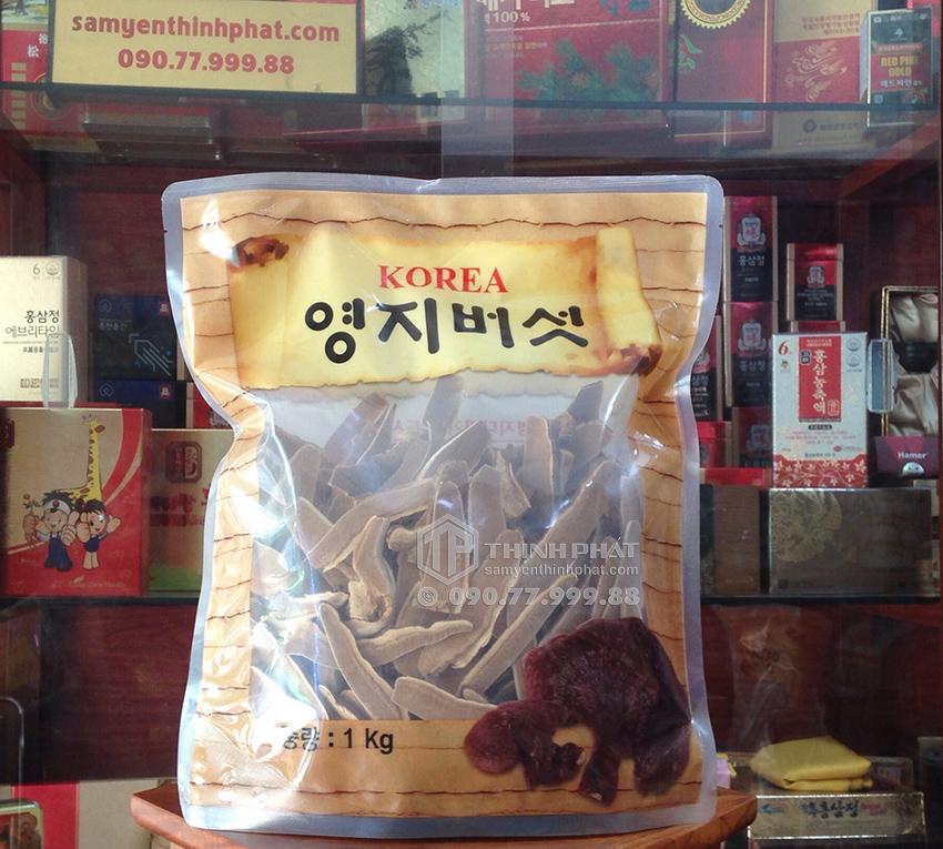 Nấm linh chi Hàn Quốc thái lát bịch 1kg