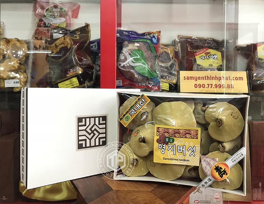 Nấm linh chi vàng Hàn Quốc cao cấp 365 hộp quà tặng 1kg
