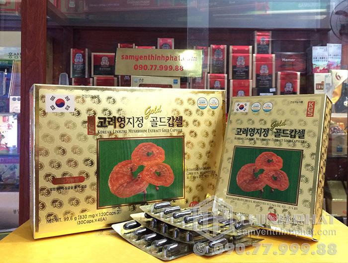 Viên linh chi Hàn Quốc KGS hộp giấy 120 viên