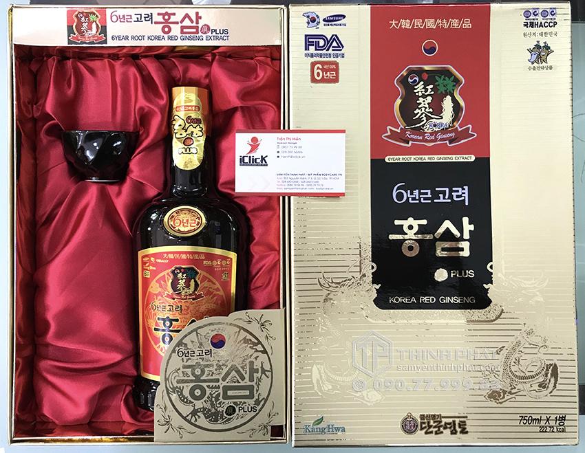Nước hồng sâm 6 tuổi Kang Hwa Hàn Quốc chai 750ml