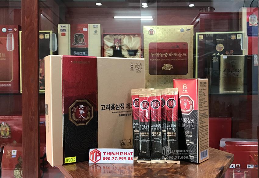 Nước hồng sâm Hàn Quốc Everyone hộp 30 gói x 10ml