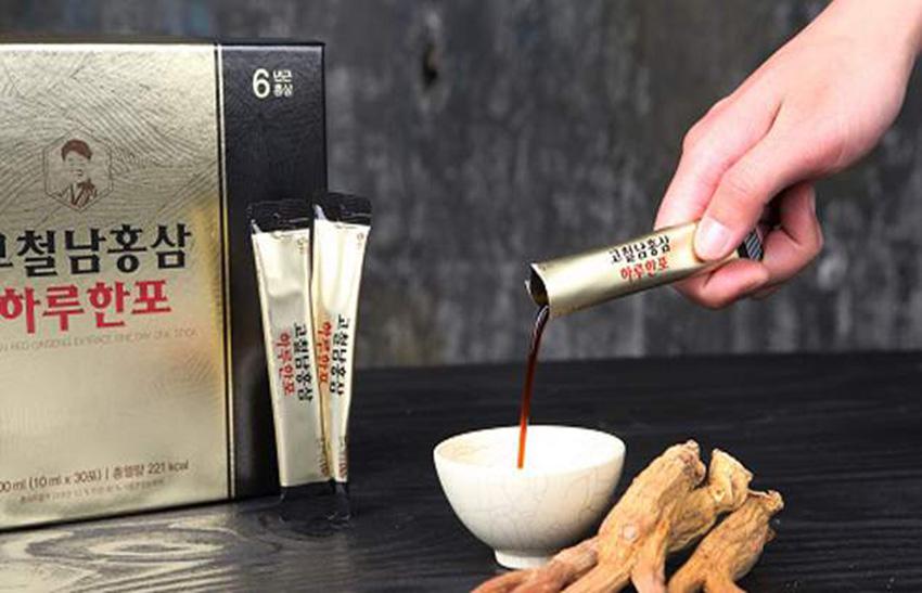 Nước Hồng sâm Hàn Quốc Kocheolnam hộp 30 gói x 10ml