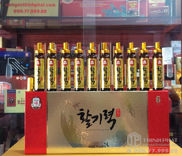 Nước hồng sâm tăng lực Vital Tonic KGC hộp 10 ống