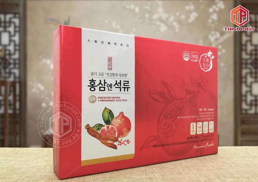 Nước lựu hồng sâm collagen Daedong 30 gói x 10ml