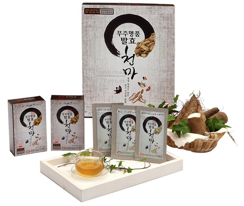 Nước thiên ma Hàn Quốc lên men hộp 30 gói x 50g