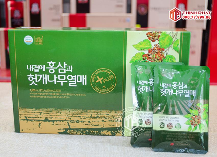 Nước hồng sâm Hàn Quốc bổ gan hãng Daedong 30 gói 50ml