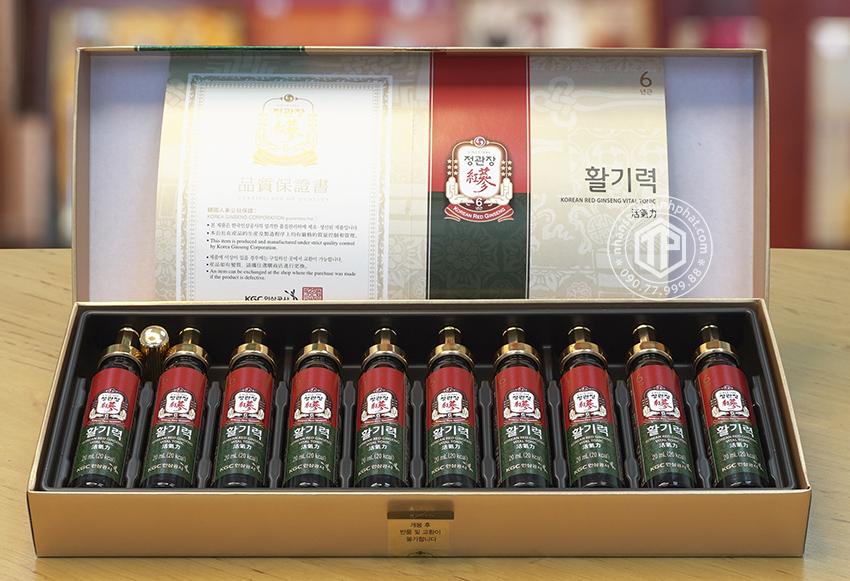 Nước hồng sâm KGC hộp 10 ống - Chính hãng sâm Chính phủ Hàn Quốc Cheon Kwan Jang