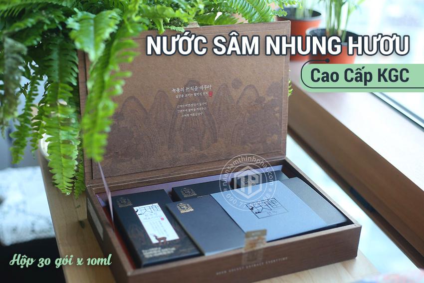 Nước sâm nhung hươu cao cấp KGC sâm chính phủ Cheon Kwan Jang hộp 30 gói x 10ml