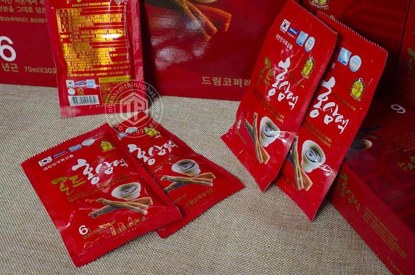 Nước Uống Hồng Sâm 6 Năm Korea Red Ginseng Drink Sobek (70 ml x 30 gói)