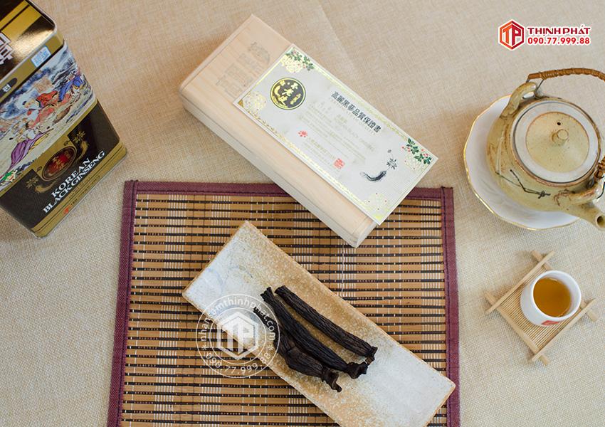 Hắc sâm củ khô 300g hộp thiếc chính hãng Deadong Hàn Quốc