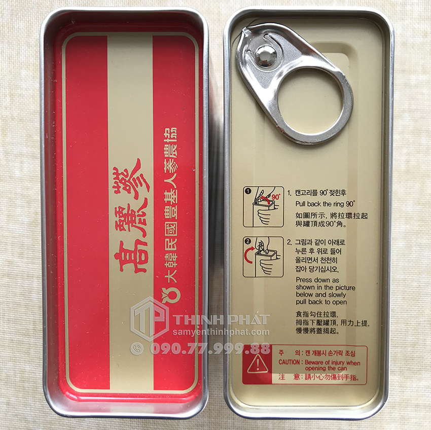 Hồng sâm củ khô hộp thiếc Punggi 150g Chính hãng Hàn Quốc