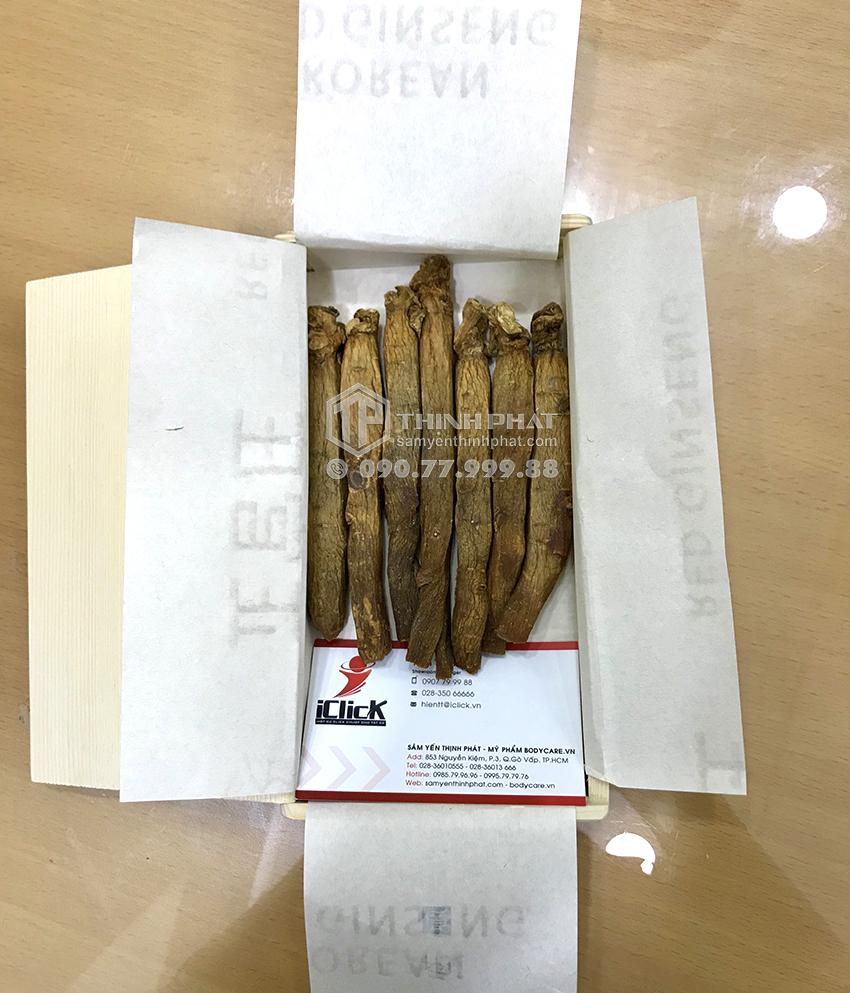 Hồng sâm củ khô KGC 20PCS 150g 7 củ hộp thiếc hồng sâm Chính phủ Cheong Kwan Jang