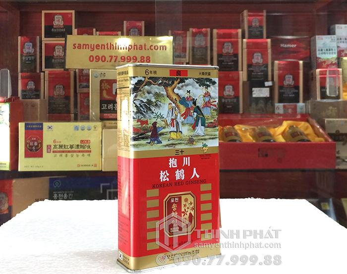 Sâm củ khô hộp thiếc Pocheon hộp 75gr