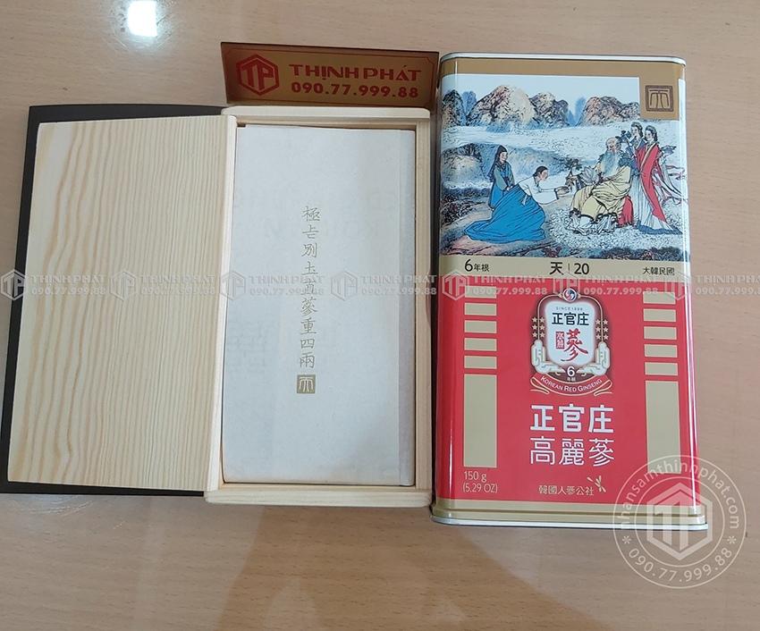 Thiên sâm chính phủ KGC Cheong Kwan Jang thượng hạng Heaven 150g 20PCS  6 củ