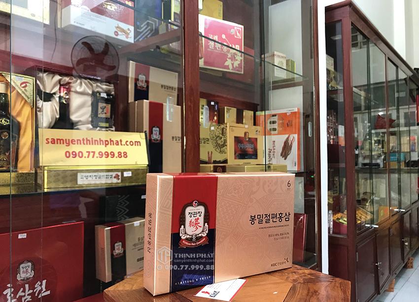 Hồng sâm lát tẩm mật ong KGC cao cấp hộp 6 gói - Cheong Kwan Jang Hồng sâm chính phủ