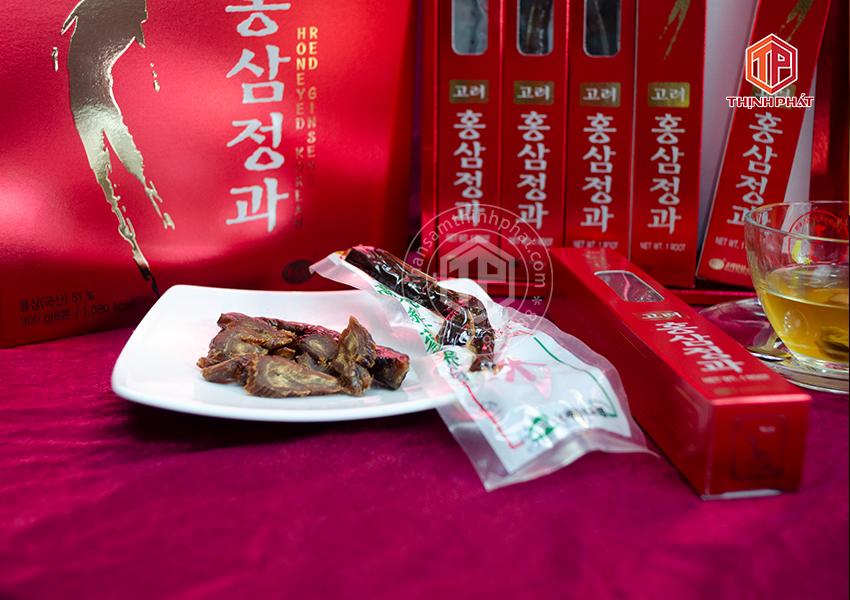 Hồng sâm củ tẩm mật ong chính hãng KGS hộp 300g sâm Hàn Quốc 6 năm tuổi