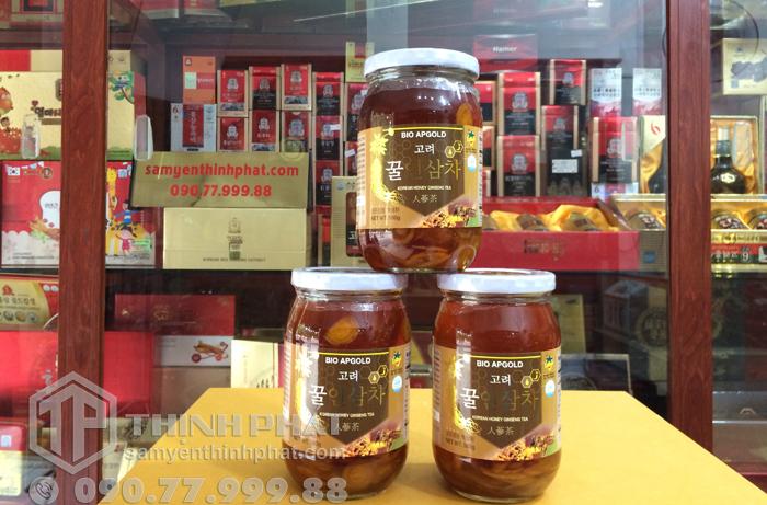 Nhân sâm ngâm mật ong lọ 580g Bio Apgold